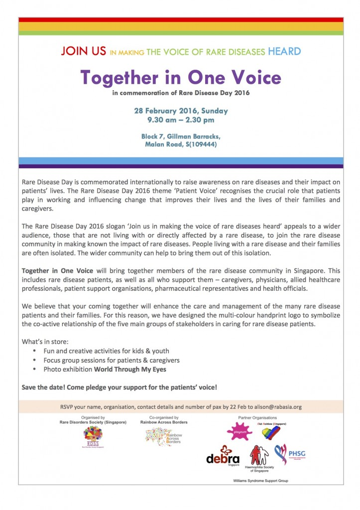 Together in One Voice - Rare Disease Day 2016